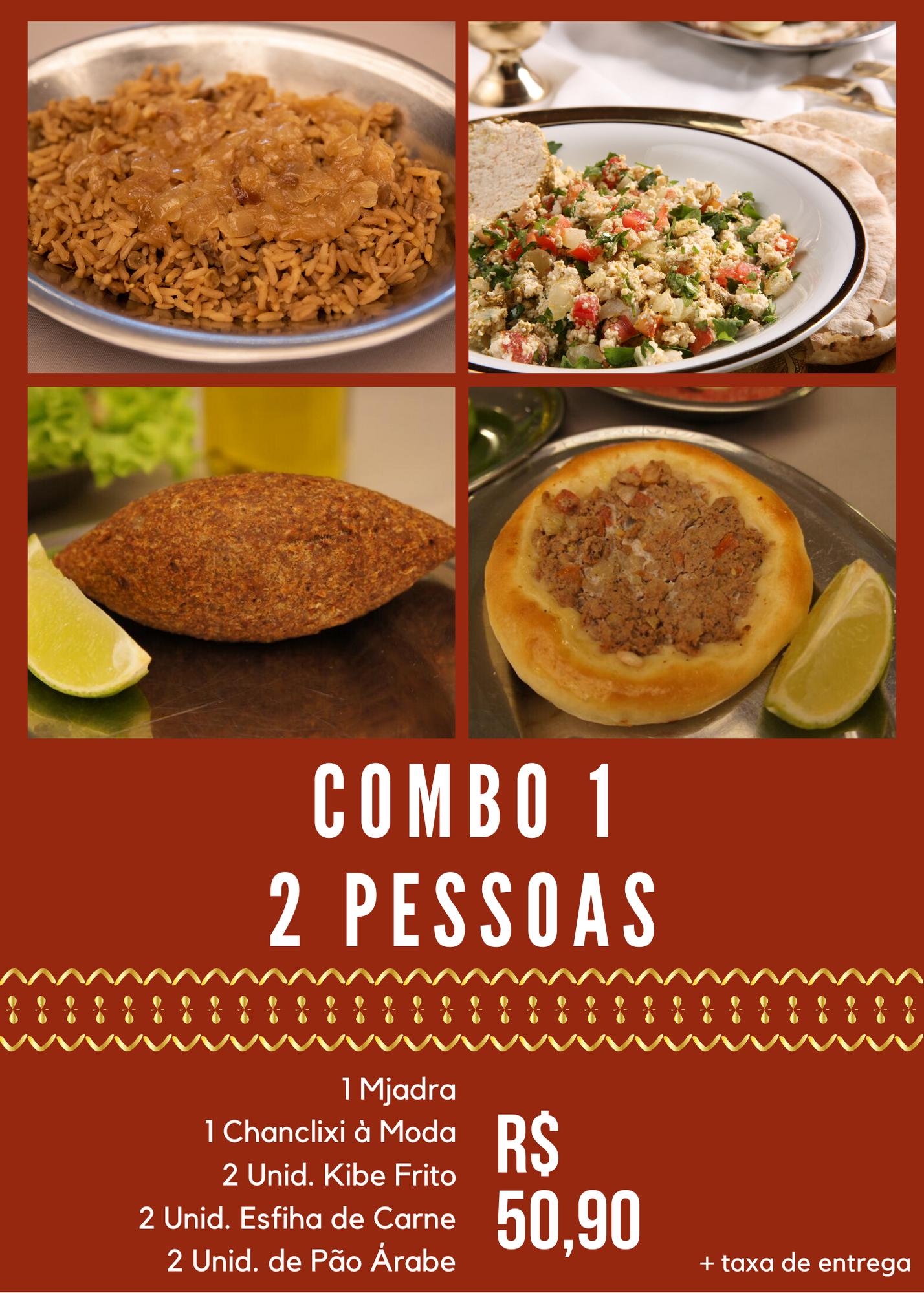 COMBO 1 - 2 PESSOAS - R$ 50,90