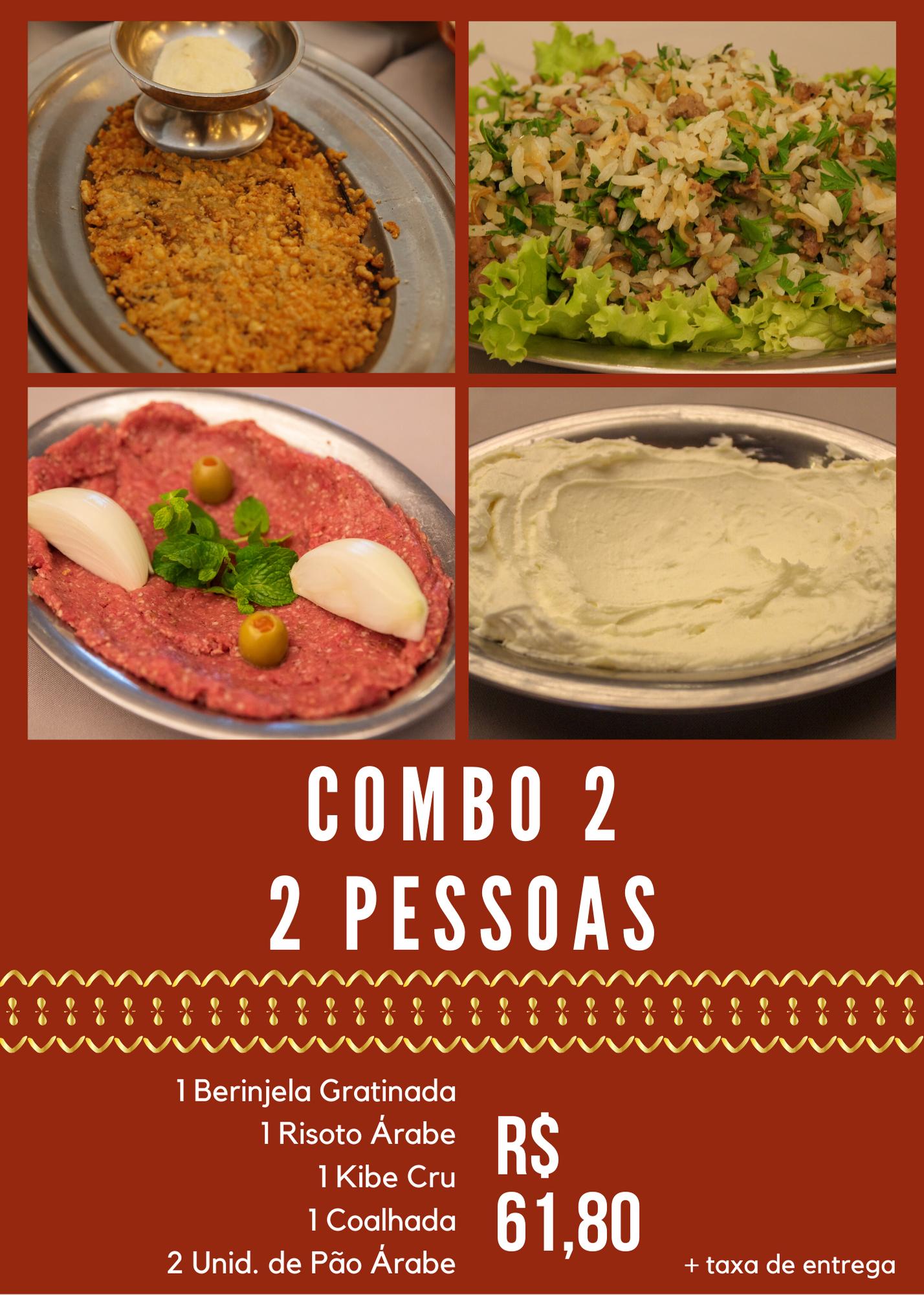 COMBO 2 - 2 PESSOAS - R$ 61,80